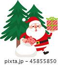 クリスマス サンタ サンタクロースのイラスト 45855850