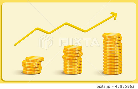 Gold Coins Earnings Growth, Career Growth Business 45855962