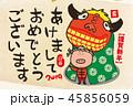 獅子舞 亥 亥年のイラスト 45856059