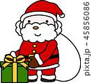 サンタ サンタクロース クリスマスのイラスト 45856086