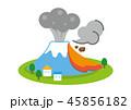 噴火 火山 活火山のイラスト 45856182