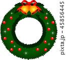 クリスマスリース リース クリスマスのイラスト 45856445