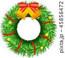 クリスマスリース リース クリスマスのイラスト 45856472