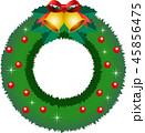 クリスマスリース リース クリスマスのイラスト 45856475