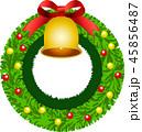 クリスマスリース リース クリスマスのイラスト 45856487