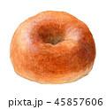 パン ベーグル 食べ物のイラスト 45857606