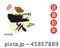 年賀状 亥 亥年のイラスト 45857889