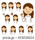 人物 表情 バリエーションのイラスト 45858824