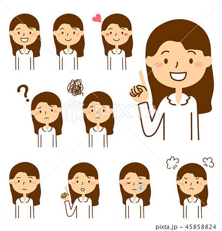 女子中高生:表情バリエーション 45858824