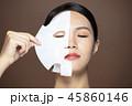 closeup young beauty face and facial mask 45860146