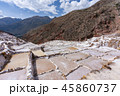 Salt ponds at Maras in Cusco, Peru 45860737