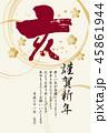 年賀状 亥 謹賀新年のイラスト 45861944