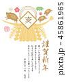 年賀状 亥 猪のイラスト 45861965