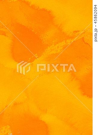 背景素材 水彩テクスチャー オレンジ 45862094