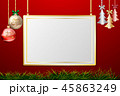 フレーム クリスマス 装飾のイラスト 45863249