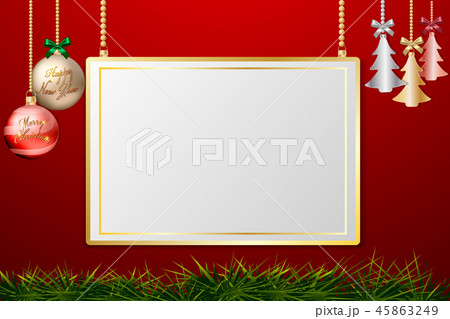 Christmas Balls Hanging Decoration with Gold frame 45863249