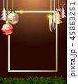 フレーム クリスマス 装飾のイラスト 45863251