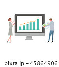 ビジネス ベクター グラフのイラスト 45864906