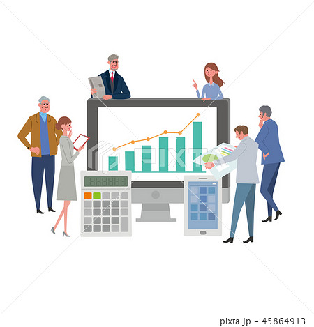 ビジネスイメージ イラスト 働く人々 45864913