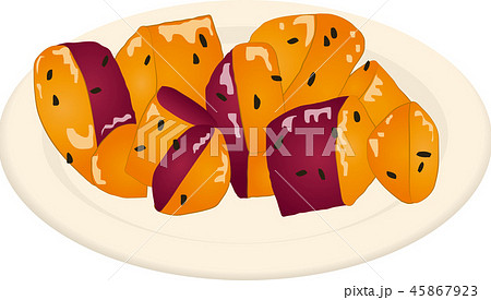 大学芋のイラスト素材 45867923 Pixta