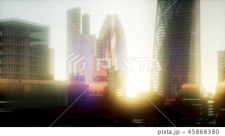 concept of London city at sunset 45868380