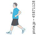 ジョギングをしている男性 45871128