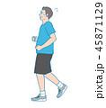 男性 ジョギング 走るのイラスト 45871129