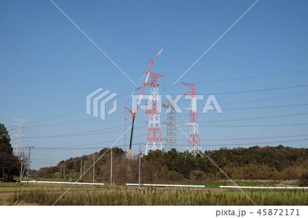 送電線の工事 45872171