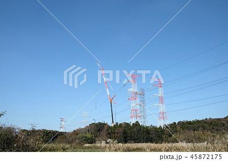 送電線の工事 45872175