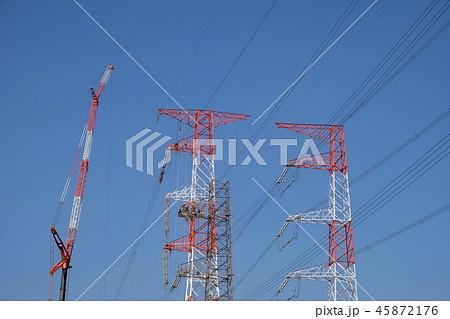 送電線の工事 45872176