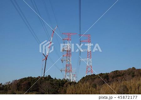送電線の工事 45872177