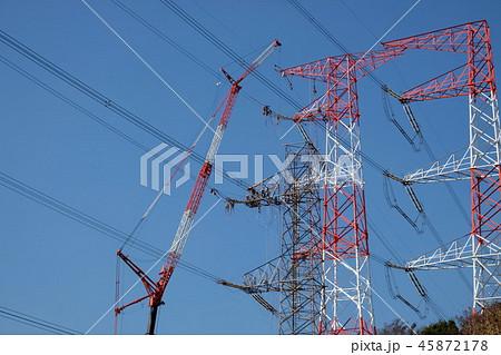 送電線の工事 45872178