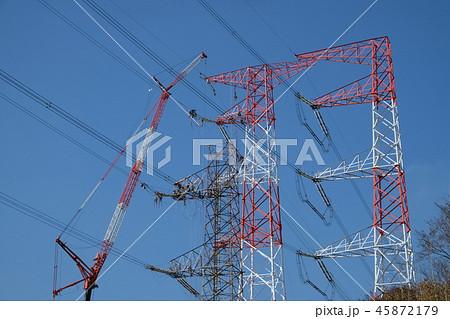 送電線の工事 45872179