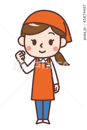 スーパーの女性店員1 45874497