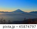 富士山 富士 朝焼けの写真 45874797