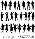人影 影 シルエットのイラスト 45877710