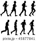 ランナー 走者 セットのイラスト 45877841