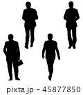 Set silhouette businessman man in suit on a white  45877850