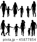 Set silhouette of happy family on a white  45877854