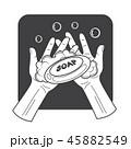 ソープ 手 ベクタのイラスト 45882549