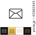 封筒 アイコン Eメールのイラスト 45882945