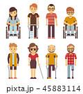 身体障害者 人物 人のイラスト 45883114