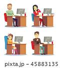人物 オフィス キャラクターのイラスト 45883135