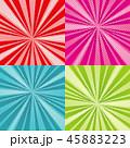 サンバースト ポップ アートのイラスト 45883223