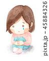 女の子 泣く 涙のイラスト 45884326