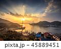 長崎 長崎港 夕陽の写真 45889451