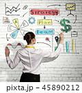 ビジネスウーマン 女性実業家 ビジネスの写真 45890212