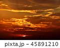 夕日 夕焼け 夕方の写真 45891210