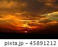 夕日 夕焼け 風景の写真 45891212