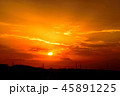 夕日 夕焼け 夕方の写真 45891225